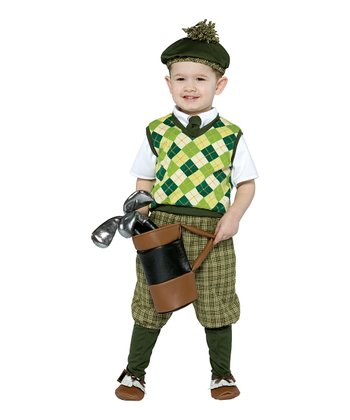 Olive Green Future Golfer Dress-Up Set - Toddler