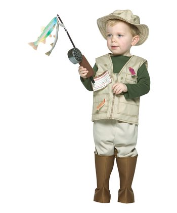 Beige Future Fisherman Dress-Up Set - Toddler