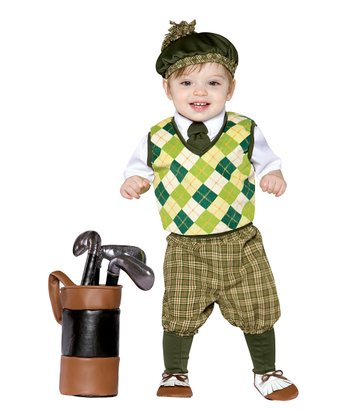 Olive Green Future Golfer Dress-Up Set - Infant