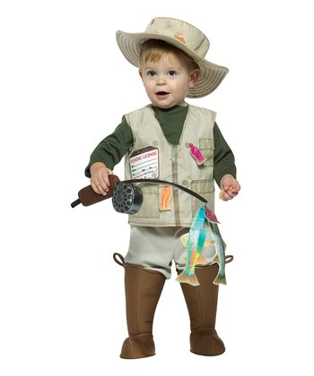 Beige Future Fisherman Dress-Up Set - Infant