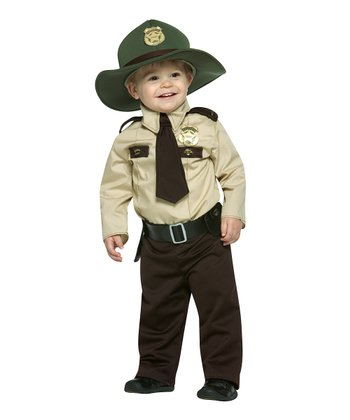 Brown & Tan Future Trooper Dress-Up Set - Infant
