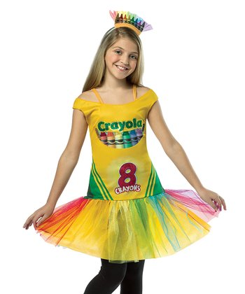 Yellow Crayola Crayon Box Dress-Up Set - Girls