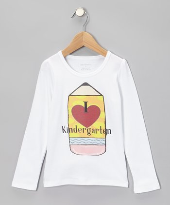 White 'Kindergarten' Tee - Infant, Toddler & Kids