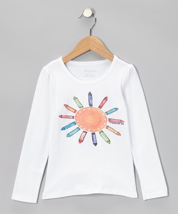 White Crayon Sun Tee - Infant, Toddler & Kids