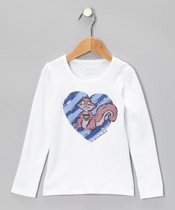 White & Brown Squirrel Tee - Infant, Toddler & Girls