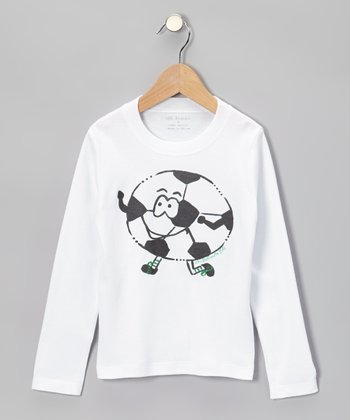 White & Black Soccer Tee - Infant, Toddler & Boys