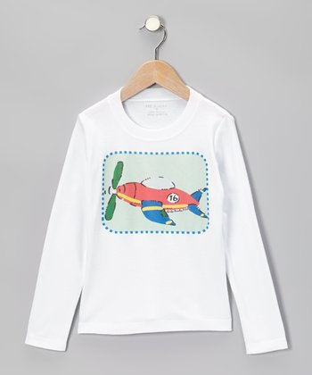 White & Red Plane Tee - Infant, Toddler & Boys