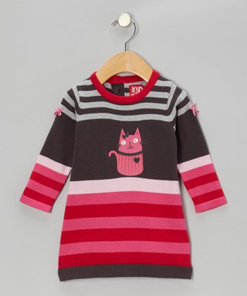Charcoal Cat Swing Dress - Infant