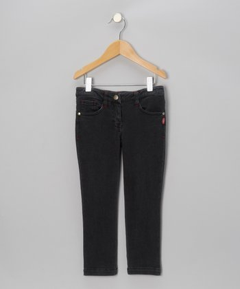 Dark Wash Skinny Jeans - Toddler & Girls