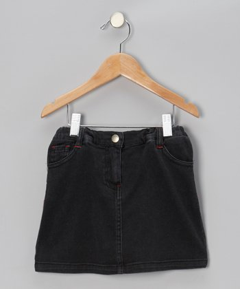 Dark Wash Denim Skirt - Toddler & Girls