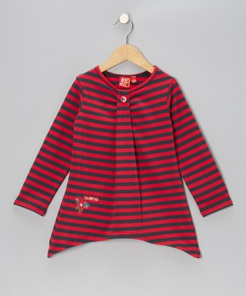 Framboise Stripe Sidetail Tunic - Toddler & Girls