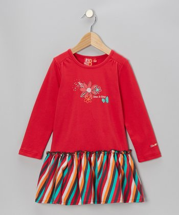 Framboise Stripe Drop-Waist Dress - Toddler & Girls