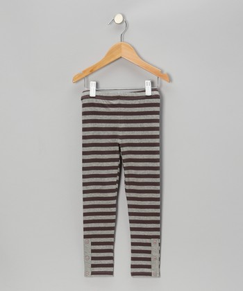 Gray Jet Set Leggings - Toddler & Girls