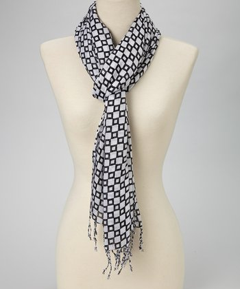 Black & White Chess Board Scarf