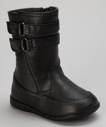 Luna Shoes Black Double-Strap Boot