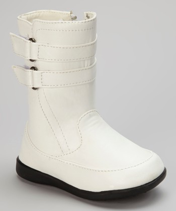 Luna Shoes White Double-Strap Boot
