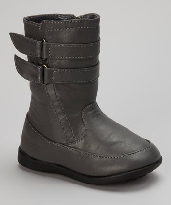Luna Shoes Gray Double-Strap Boot