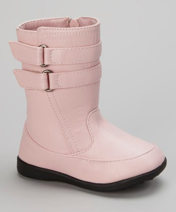 Luna Shoes Pink Double-Strap Boot