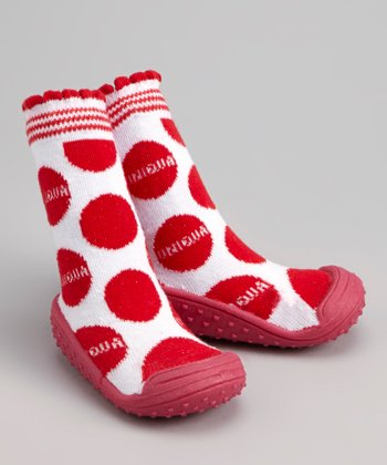 Red Polka Dot Gripper Shoe
