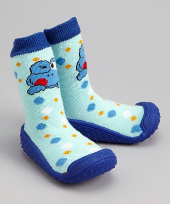 Light Blue Frog Gripper Shoe