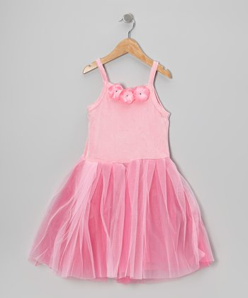 Pink Princess Flower Dress - Toddler & Girls