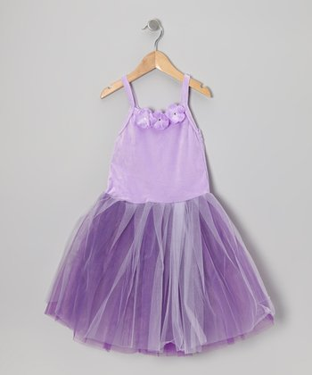 Lavender Princess Flower Dress - Toddler & Girls
