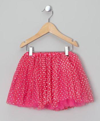 Hot Pink Polka Dot Tutu - Toddler & Girls