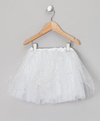 White Sparkle Tutu - Toddler & Girls