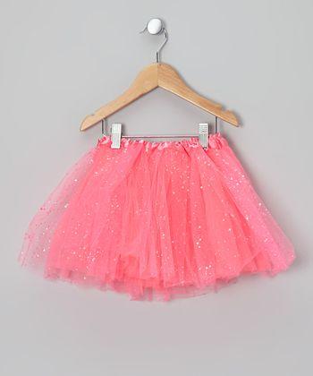 Hot Pink Sparkle Tutu - Toddler & Girls