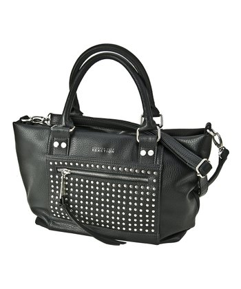 Black Studded Connect 4 Satchel