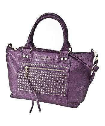 Purple Studded Connect 4 Satchel