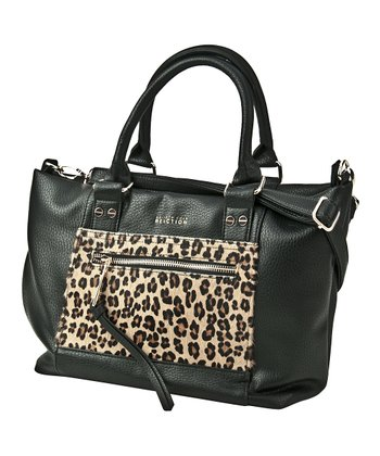 Black Leopard Connect 4 Satchel