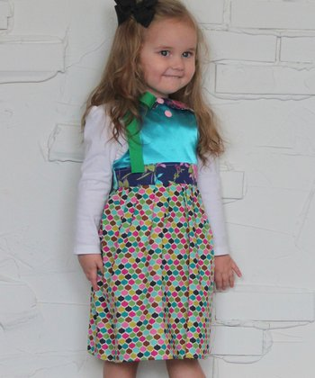 Teal Modern Princess Dress - Infant, Toddler & Girls
