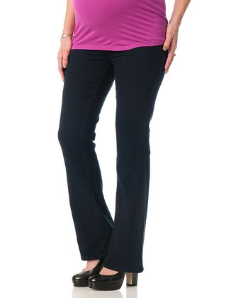 Indigo Curvy Secret Fit Belly® Maternity Bootcut Jeans
