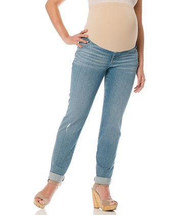Light Wash Secret Fit Belly® Maternity Boyfriend Jeans