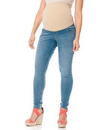 Medium Wash Secret Fit Belly® Maternity Skinny Jeans