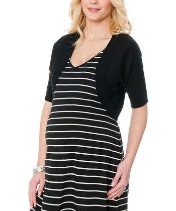 Black Maternity Shrug