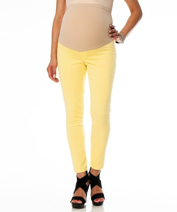 Aurora Yellow Five-Pocket Secret Fit Belly® Maternity Skinny Pants