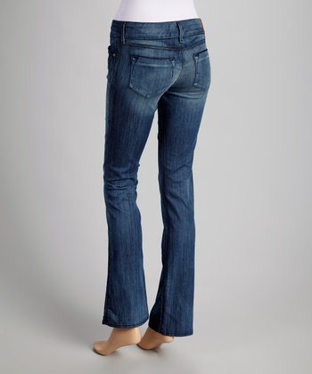 Dark Blue Sandra Low-Rise Bootcut Jeans