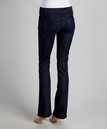 Everest Blue Low-Rise Sandra Wide-Leg Jeans