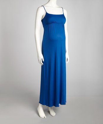 Royal Blue Maternity Sleeveless Maxi Dress