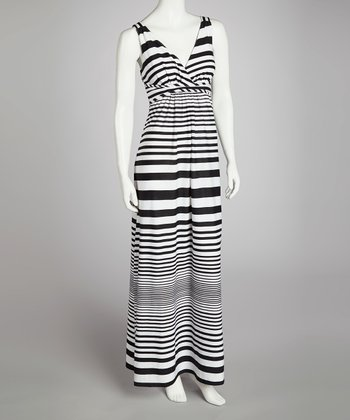 Black & White Stripe Maxi Dress