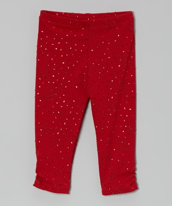 Red Sequin Leggings - Toddler