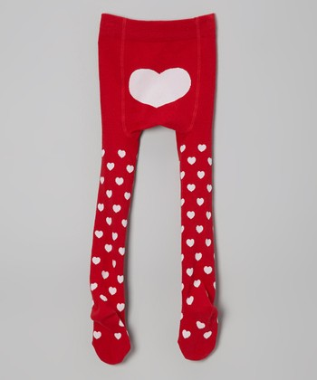 Red Heart Tights - Infant, Toddler & Girls