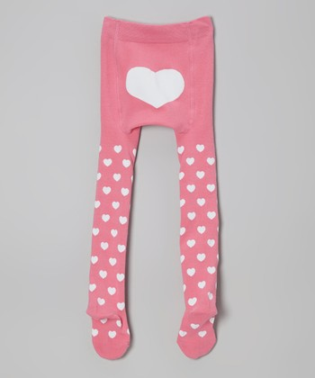 Pink Heart Tights - Infant, Toddler & Girls