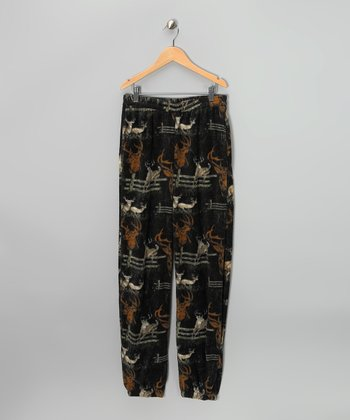 Black Deer Sweatpants - Boys