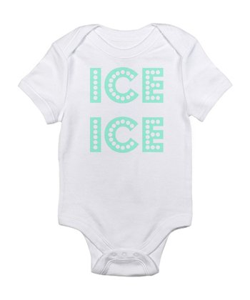 White 'Ice Ice' Bodysuit - Infant