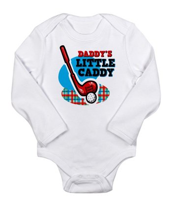 White 'Daddy's Little Caddy' Long-Sleeve Bodysuit - Infant