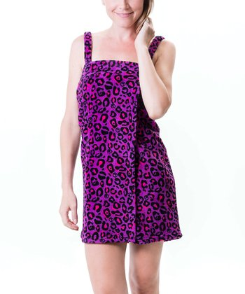 Purple Leopard Spa Wrap - Women & Plus