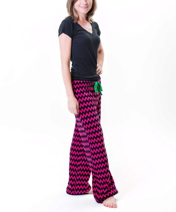 Gray Zigzag Pajama Pants - Women